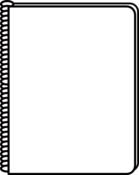 Black and white notebook inside cover clipart freeuse library Notepad gallery for notebook cover clip art 2 image - ClipartAndScrap freeuse library