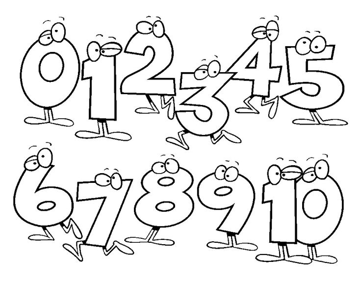 Black and white numbers clipart vector freeuse library 16+ Number Clipart Black And White | ClipartLook vector freeuse library