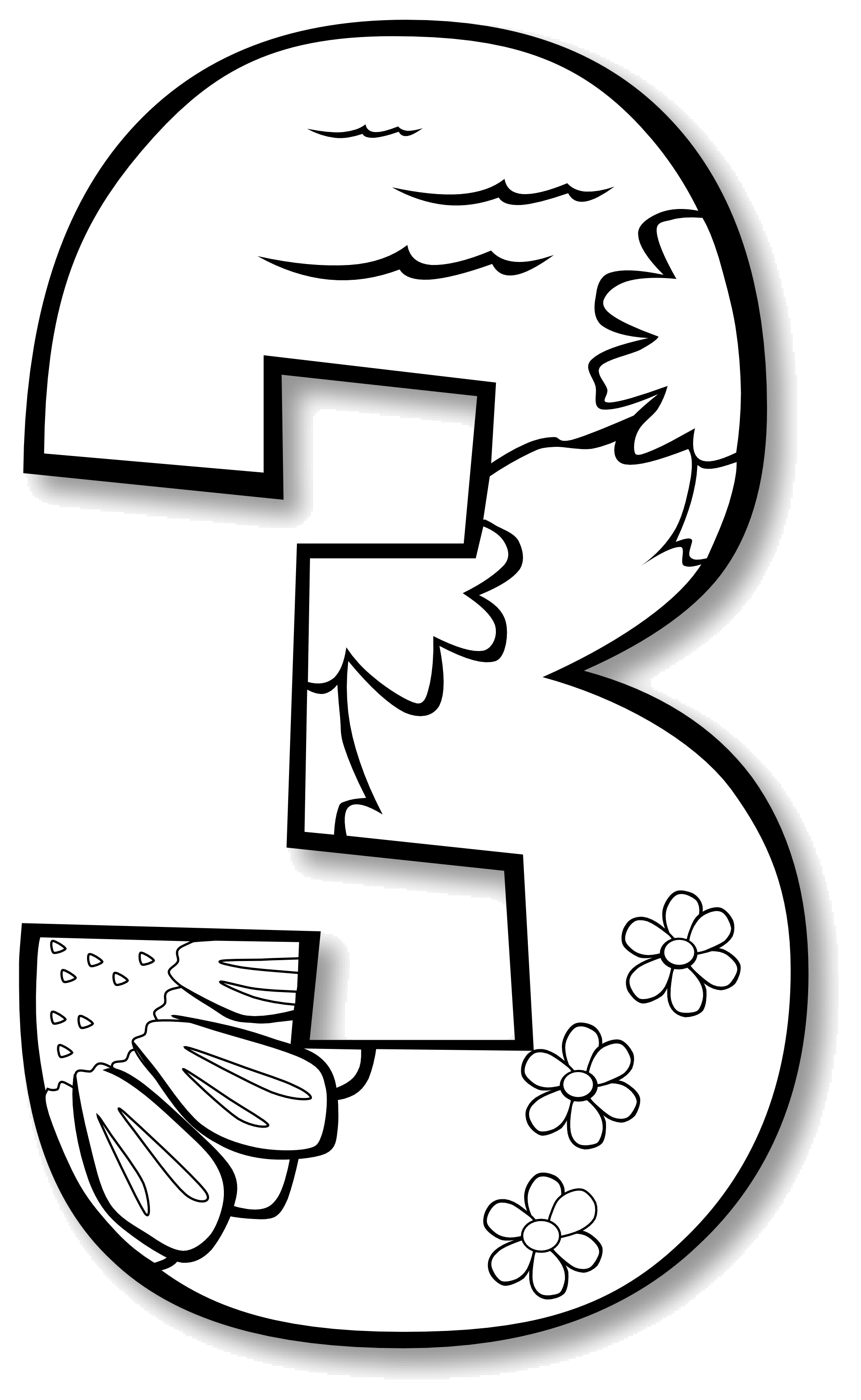 Black and white numbers clipart image free library Number 1 Black And White Numbers Clipart Kid Image Png - AZPng image free library