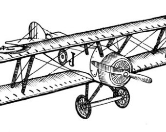 Black and white old fashioned airplane drawing clipart royalty free download Vintage Plane Drawing at PaintingValley.com | Explore collection of ... royalty free download