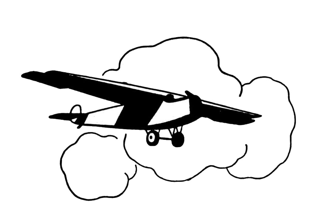 Black and white old fashioned airplane drawing clipart png royalty free stock Vintage Clip Art - Black and White Airplanes - The Graphics Fairy png royalty free stock