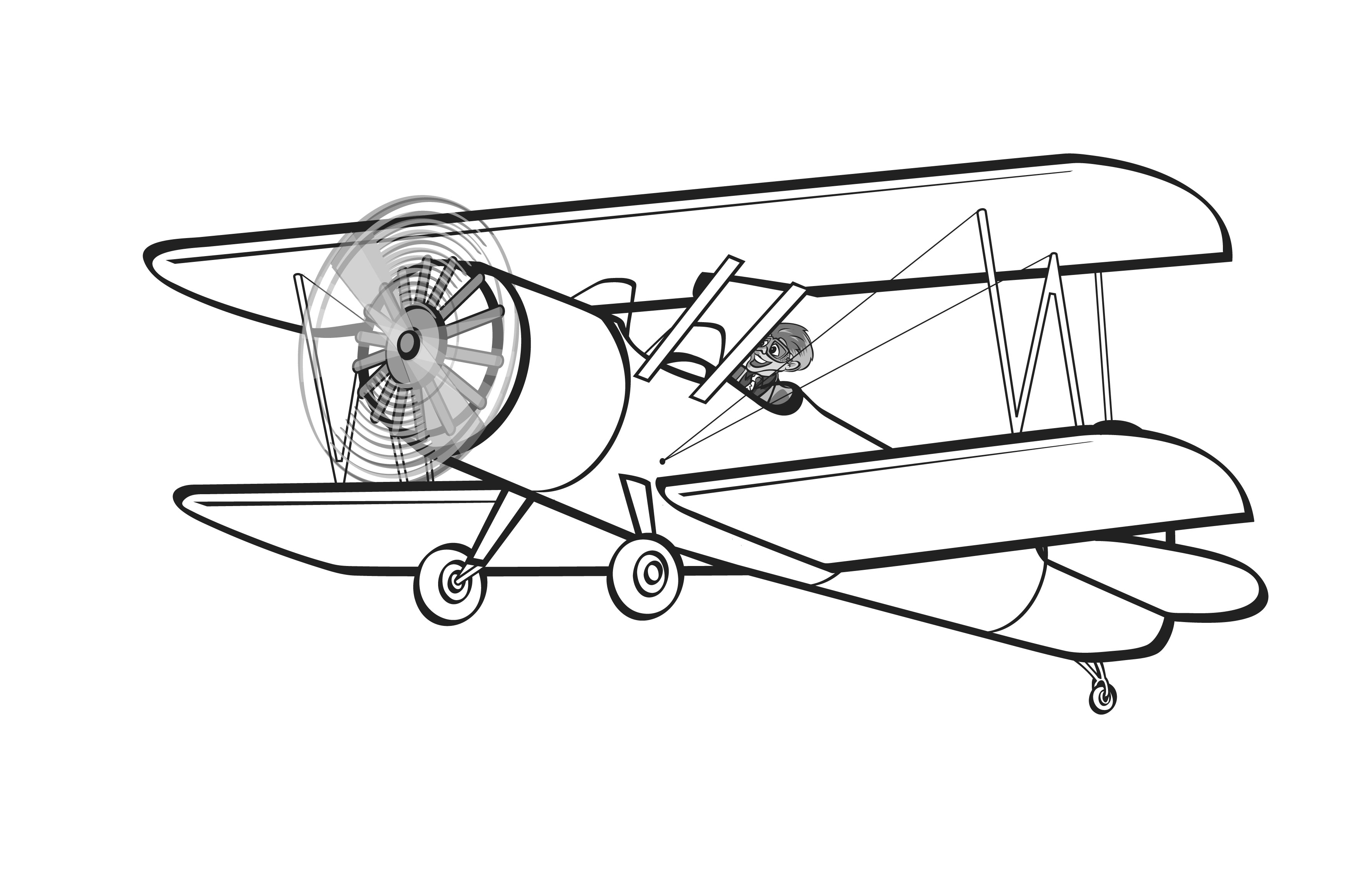 Black and white old fashioned airplane drawing clipart image free Vintage Airplane Clipart | Free download best Vintage Airplane ... image free