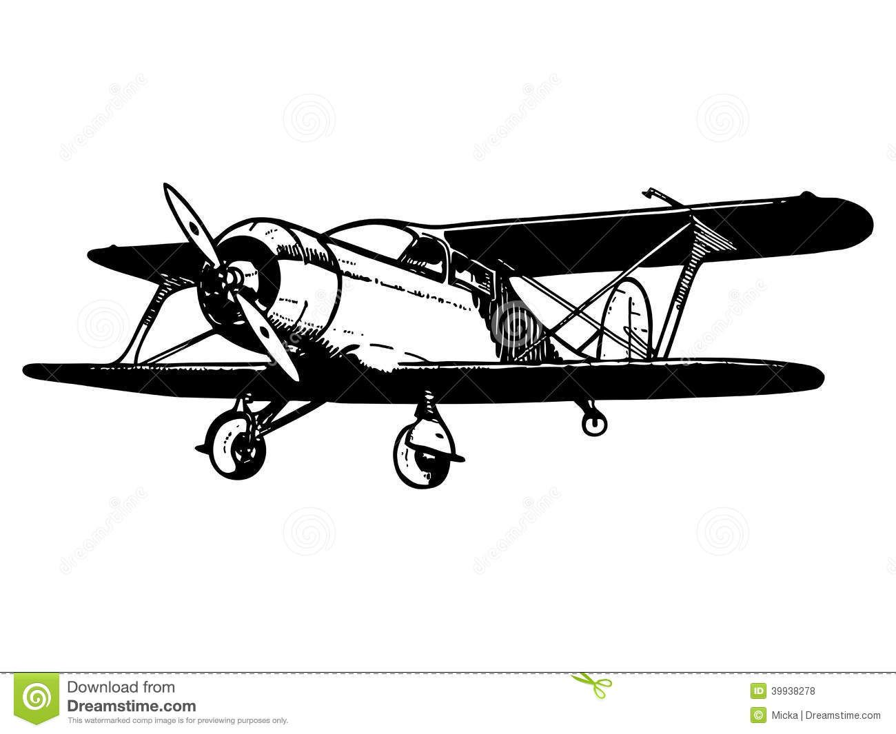 Black and white old fashioned airplane drawing clipart clip art transparent stock Vintage Airplane Clipart Free Vintage airplanes clipart | Vintage ... clip art transparent stock