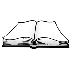 Black and white open flat book clipart vector free download Open Book Clipart Black And White   Free download best Open Book ... vector free download