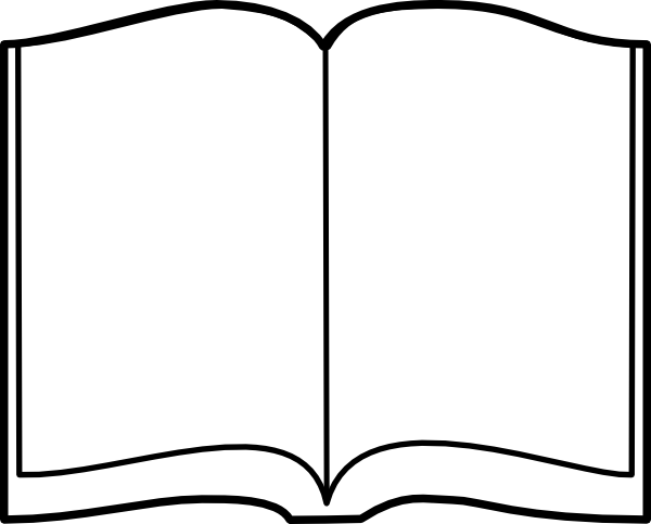 Free blank book template png clipart vector image black and white library Free Open Book Cliparts, Download Free Clip Art, Free Clip Art on ... image black and white library