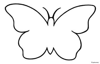 Black and white outline clipart vector stock Black and White Butterfly Outline   Butterfly: Black & White Outline ... vector stock