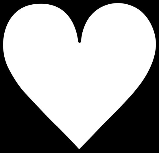 White outline heart clipart free banner royalty free Heart black and white black and white heart outline clipart kid ... banner royalty free