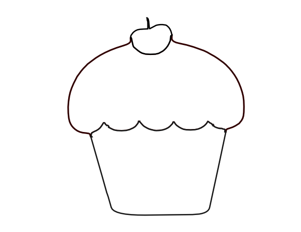 Black and white outline clipart svg free library Cupcake Outline Clipart Black And White - Cliparts.co svg free library