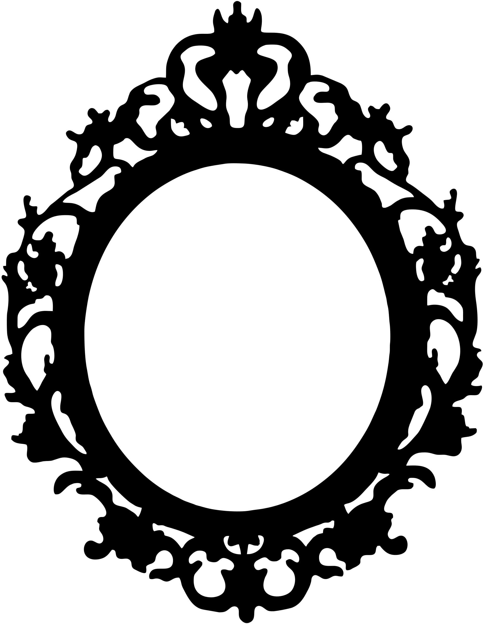 Black and white oval shaped mirror clipart graphic freeuse stock picture frame stencils | Displaying 19> Images For - Oval Antique ... graphic freeuse stock