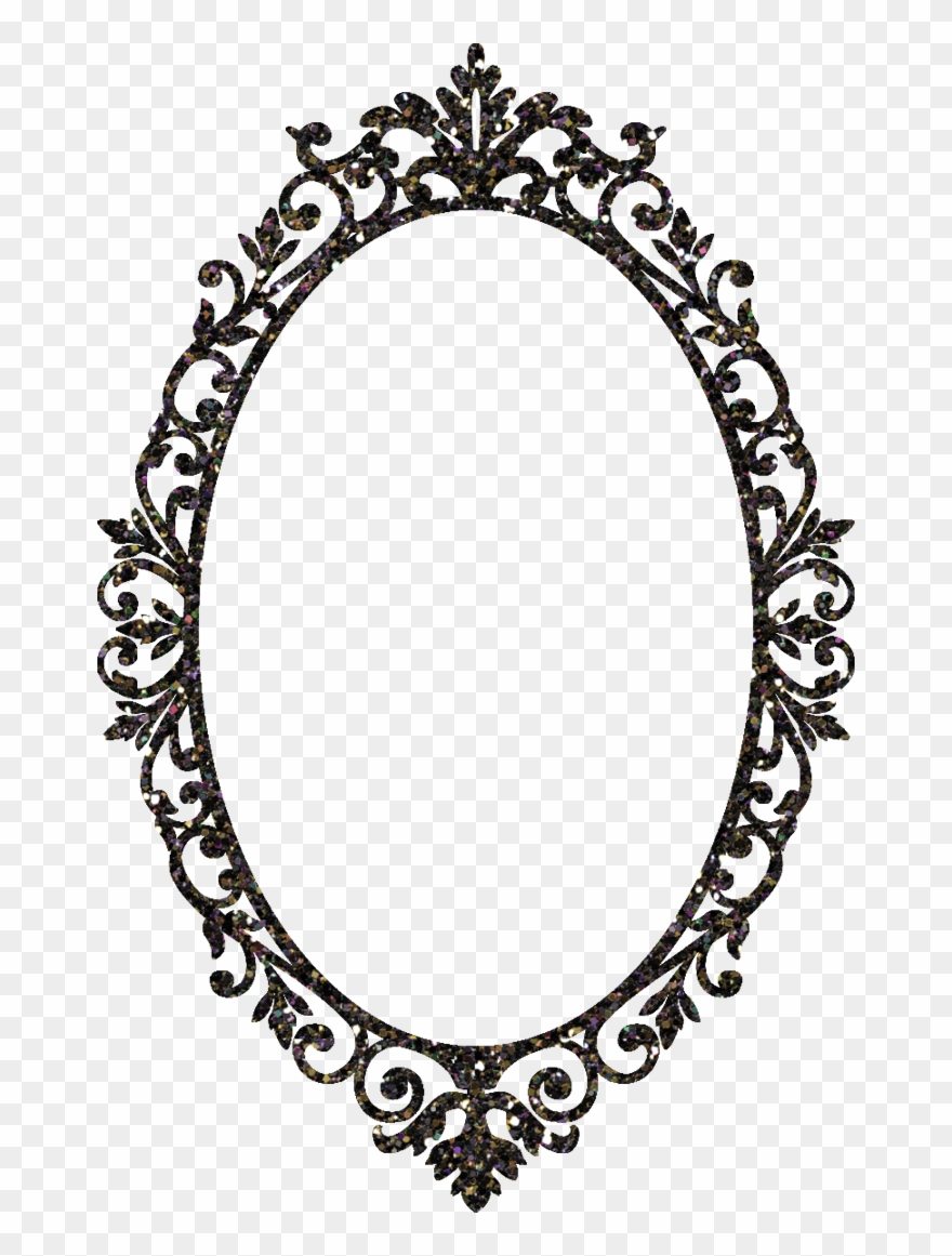 Black and white oval shaped mirror clipart clip free Mirror Clipart Ornamental - Mirror Frame Clipart Png Transparent Png ... clip free