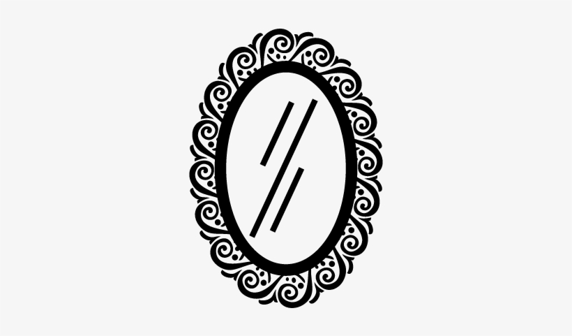 Black and white oval shaped mirror clipart image black and white download Mirror Oval Shape Vector - Oblong Things Clipart Black And White ... image black and white download