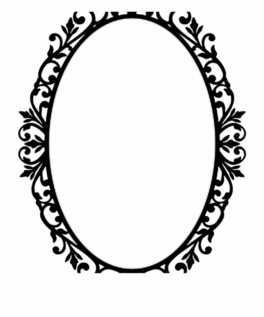 Black and white oval shaped mirror clipart clip transparent download Vintage Transparent Oval Frame Free PNG Images & Clipart Download ... clip transparent download