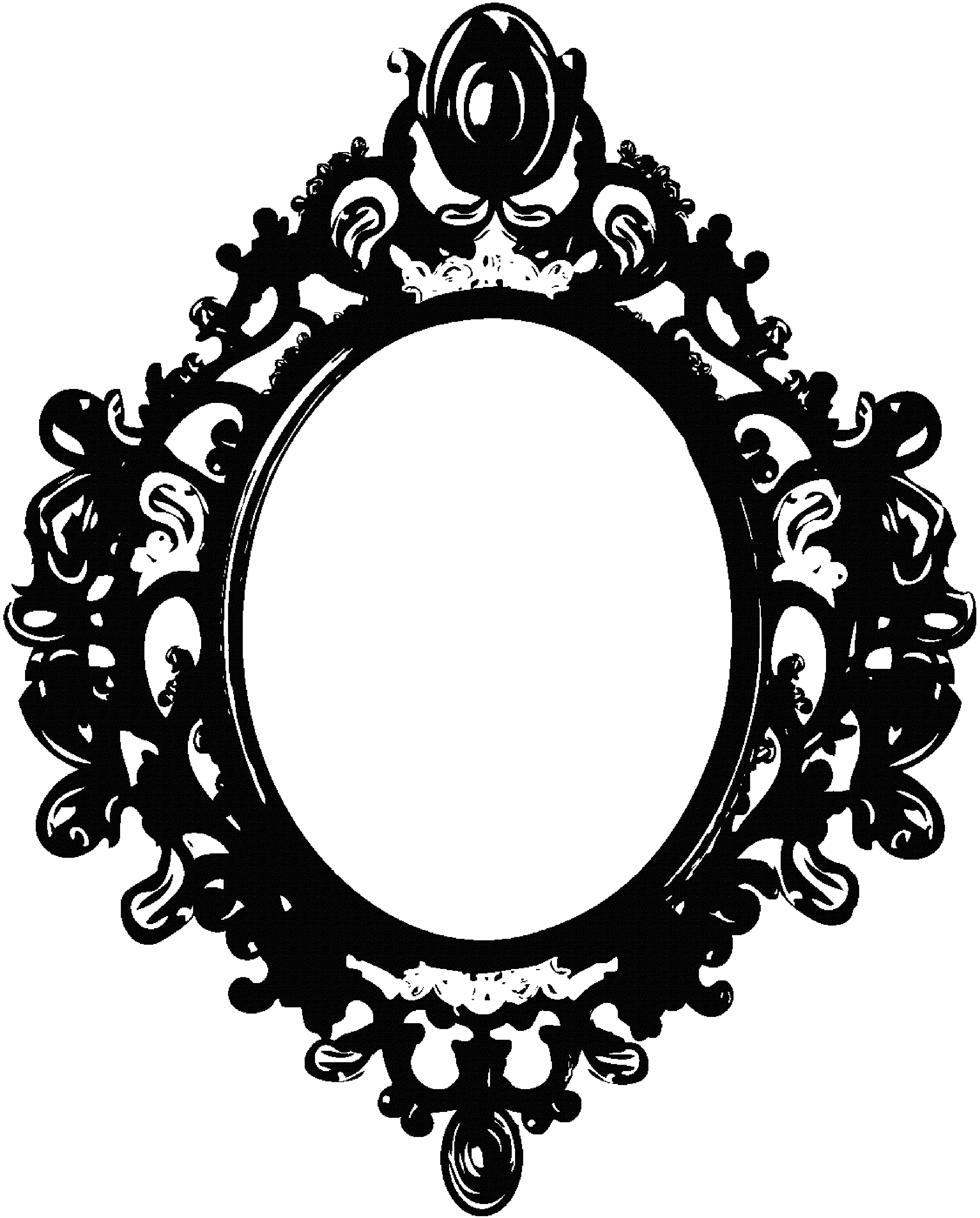 Black and white oval shaped mirror clipart clip art freeuse Mirror Frame Drawing | Free download best Mirror Frame Drawing on ... clip art freeuse