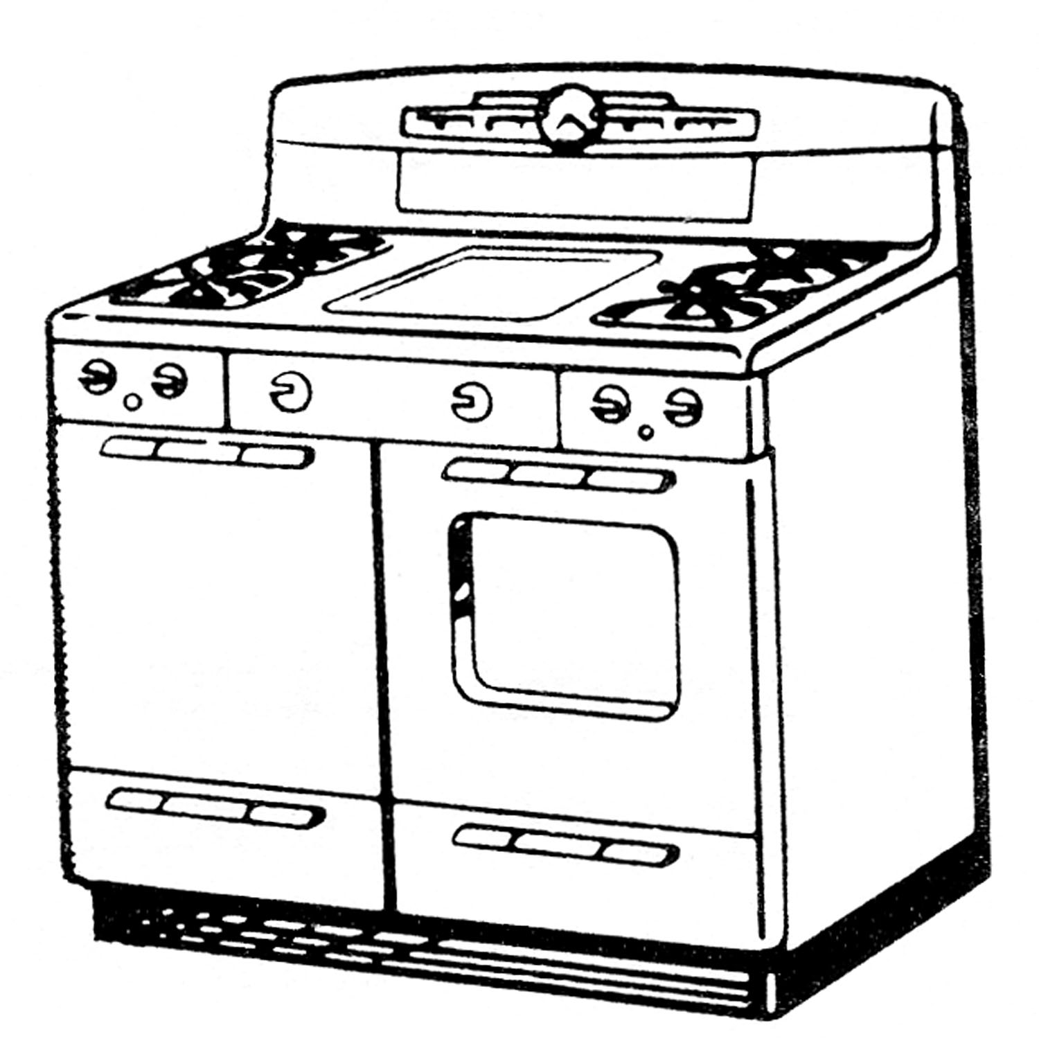 Black and white oven clipart clipart transparent library Oven clipart black and white 6 » Clipart Station clipart transparent library