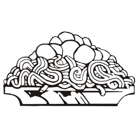 Black and white pasta clipart picture for dinner option vector free download Spaghetti Clipart Black And White | Free download best Spaghetti ... vector free download