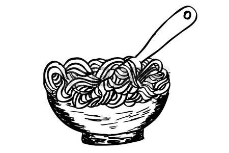 Pasta black and white clipart picture free library Spaghetti clipart black and white 2 clipart station jpg - Clipartix picture free library