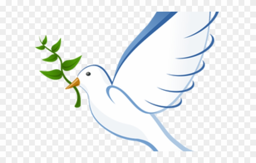 Free clipart dove with olive branch clipart black and white download White Dove Clipart Olive Branch - International Day Of Peace 2018 ... clipart black and white download