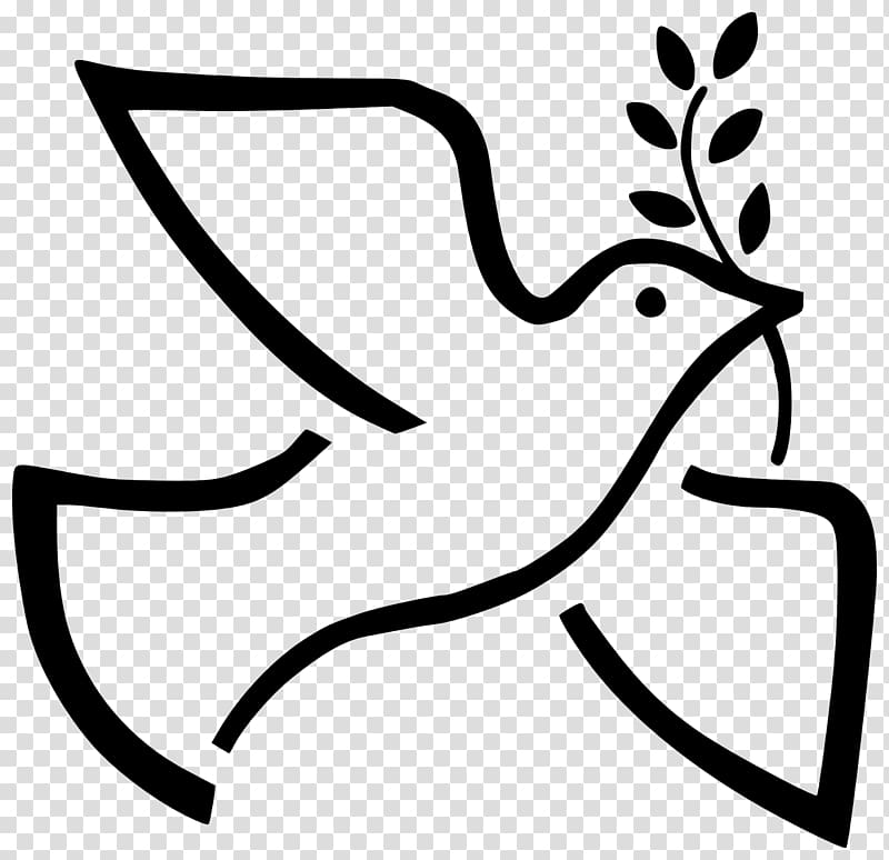 Black and white peace dove vines clipart images svg free Peace symbols , white dove transparent background PNG clipart | PNGGuru svg free