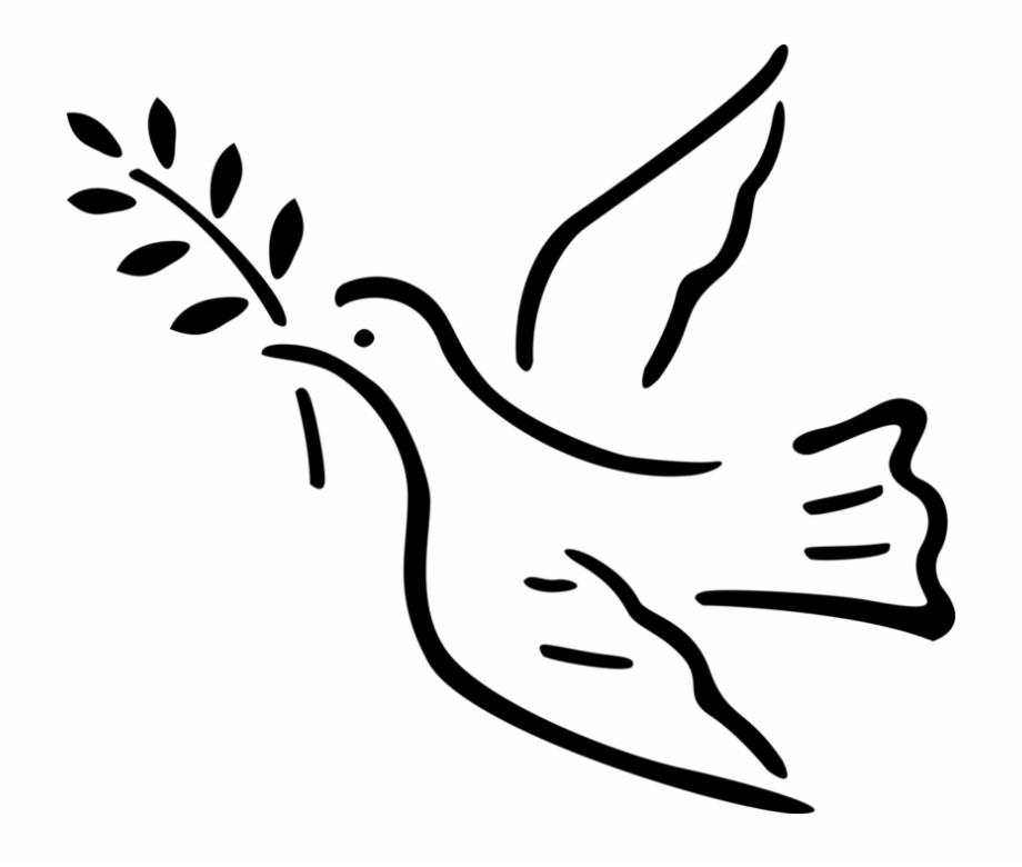 Black and white peace dove vines clipart images vector stock Vector Illustration Of Dove Bird With Olive Branch - Peace Dove Free ... vector stock