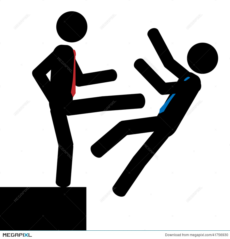 Black and white person pushing another person illustration clipart black and white library Push Illustration 41756930 - Megapixl black and white library
