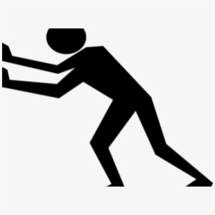 Black and white person pushing another person illustration clipart royalty free stock Push Cliparts - Draw A Person Pushing Something #700601 - Free ... royalty free stock