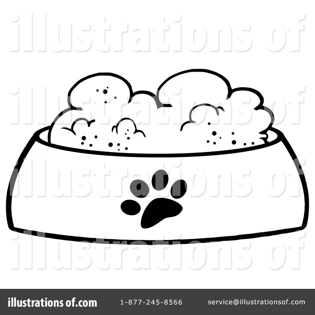 Black and white pet food can clipart image Dog Food Clipart #1097134 - Illustration by Hit Toon image