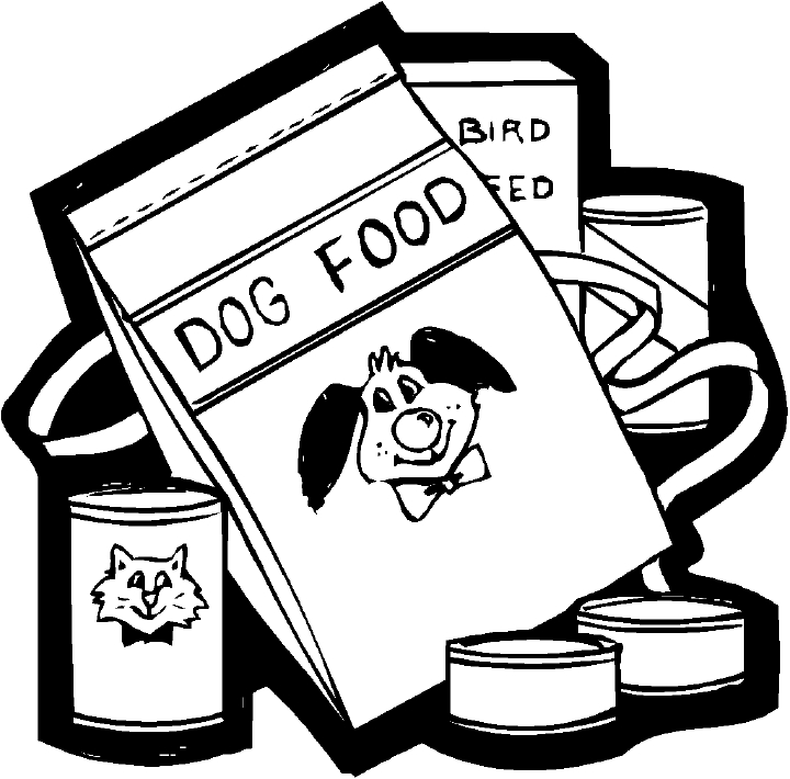 Black and white pet food can clipart free Dog Food Drawing at PaintingValley.com | Explore collection of Dog ... free