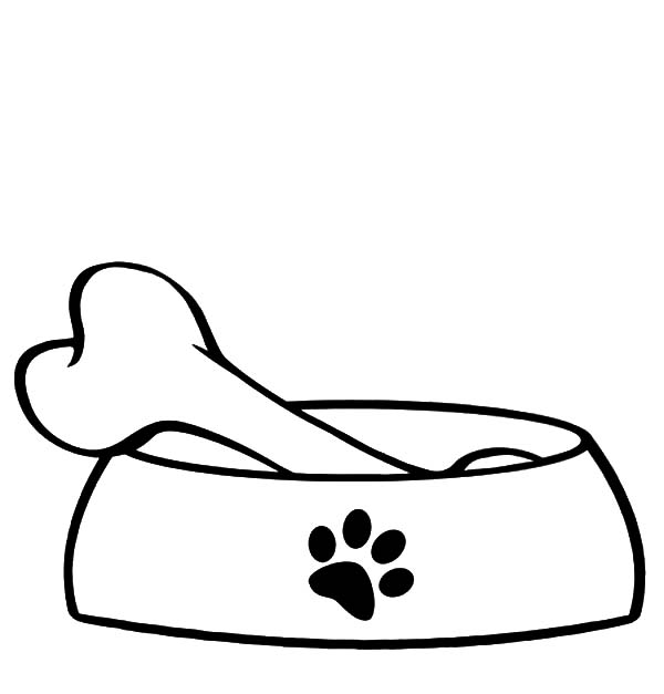Pet food clipart black and white png freeuse library Dog bowl dog food bowl clipart - WikiClipArt png freeuse library