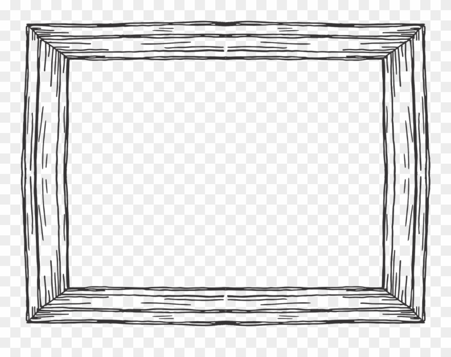 Black and white picture frame clipart clip library download Wooden Rectangular Frame - Picture Frame Clipart (#1393623) - PinClipart clip library download
