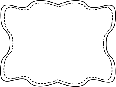 Amazingly cute free clip. Frame clipart black and white