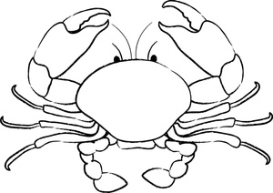 Black and white picture of crab clipart png png black and white Download Free png Crab clipart black and white - DLPNG.com png black and white