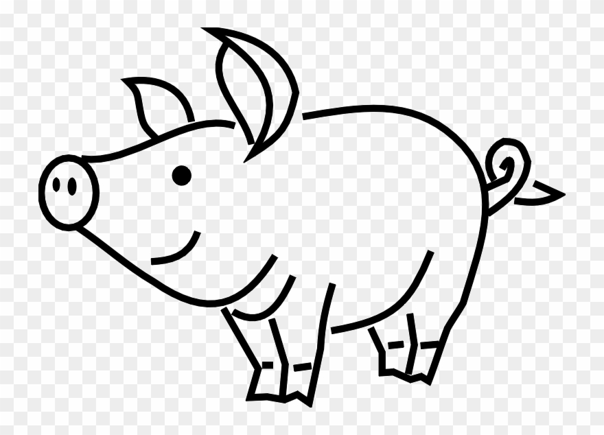 Black and white pig clipart banner royalty free library Pigs Png Black And White & Free Pigs Black And White.png Transparent ... banner royalty free library