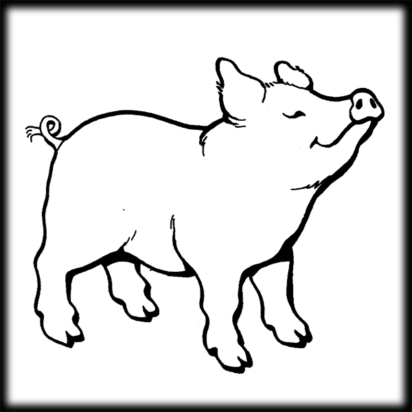 Black and white pig clipart clip free stock Pig Clip Art Black And White | Clipart Panda - Free Clipart Images clip free stock