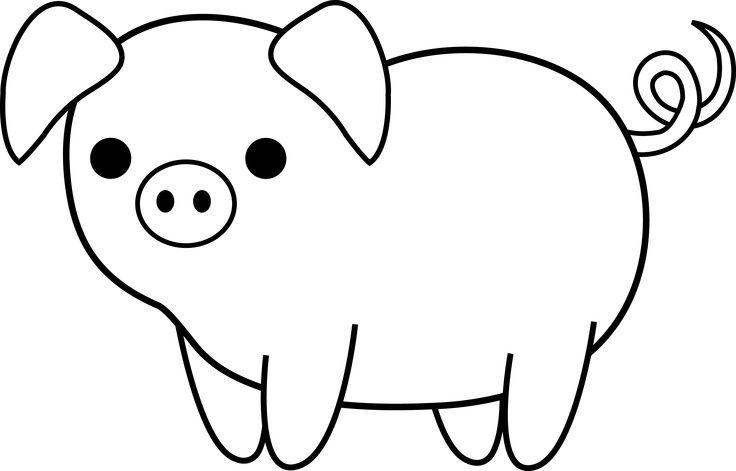 Black and white pig wearing hair bonnett clipart jpg download Pork Drawing | Free download best Pork Drawing on ClipArtMag.com jpg download