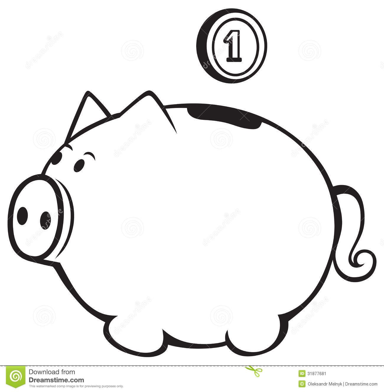 Black and white piggy bank clipart svg freeuse library Piggy Bank Clipart Black And White | Clipart Panda - Free Clipart ... svg freeuse library