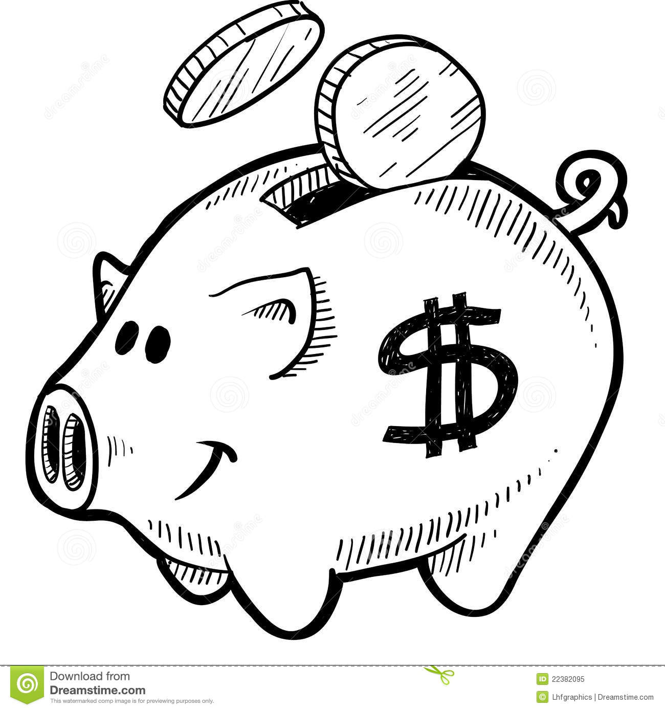 Black and white piggy bank clipart clipart black and white library Piggy bank clipart black and white - ClipartFest clipart black and white library