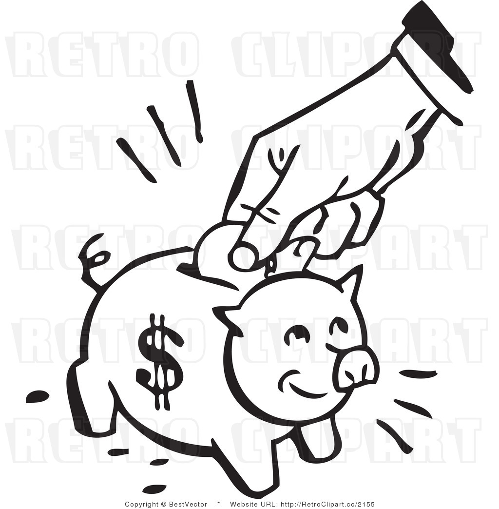 Black and white piggy bank clipart jpg download Bank clipart black and white - ClipartFest jpg download