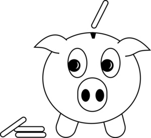 Black and white piggy bank clipart image library stock Piggy Bank Clip Art - Clipartion.com image library stock
