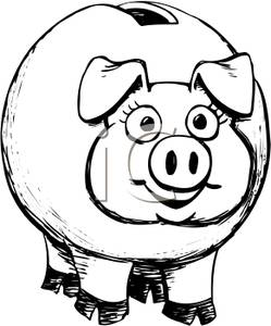 Black and white piggy bank clipart graphic transparent download Piggy Bank Clipart Black And White | Clipart Panda - Free Clipart ... graphic transparent download