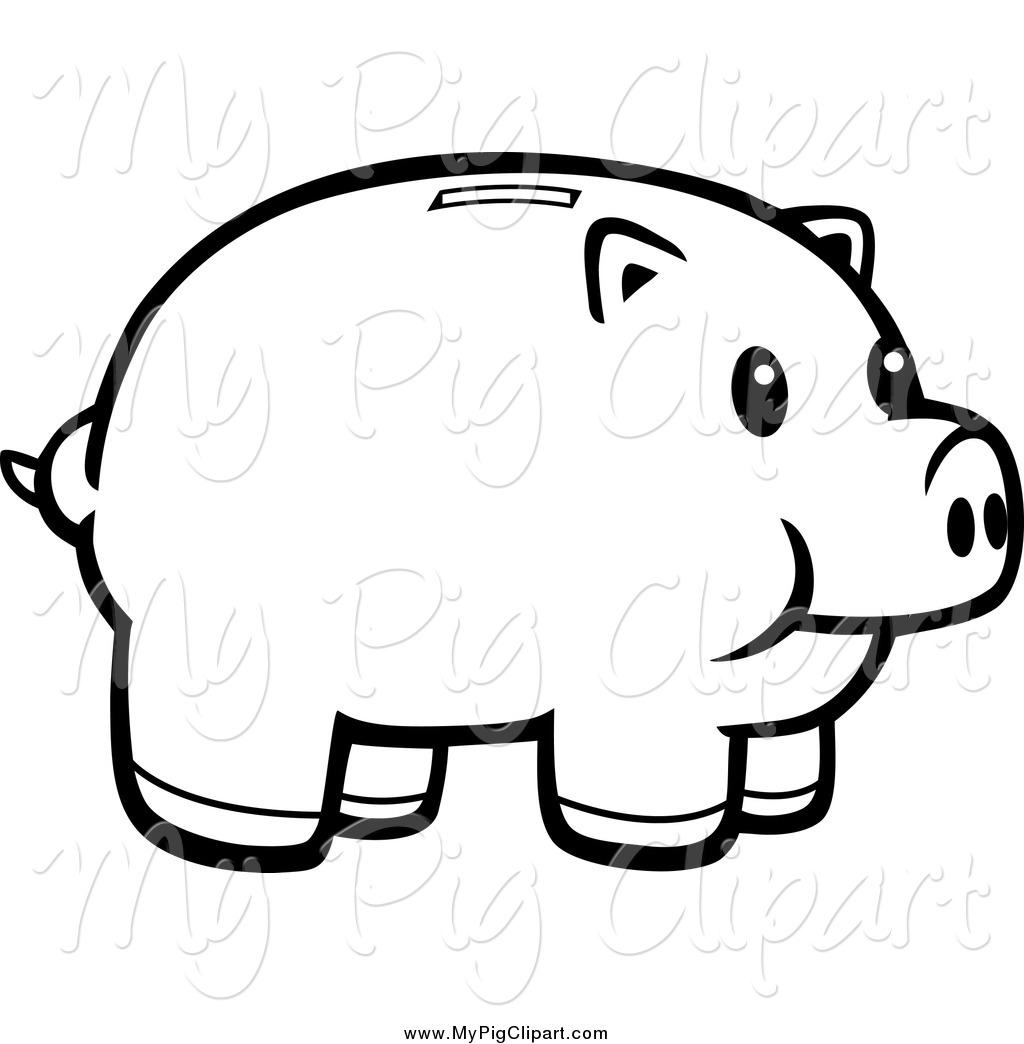Black and white piggy bank clipart image royalty free Piggy Bank Clip Art Black And White | Clipart Panda - Free Clipart ... image royalty free