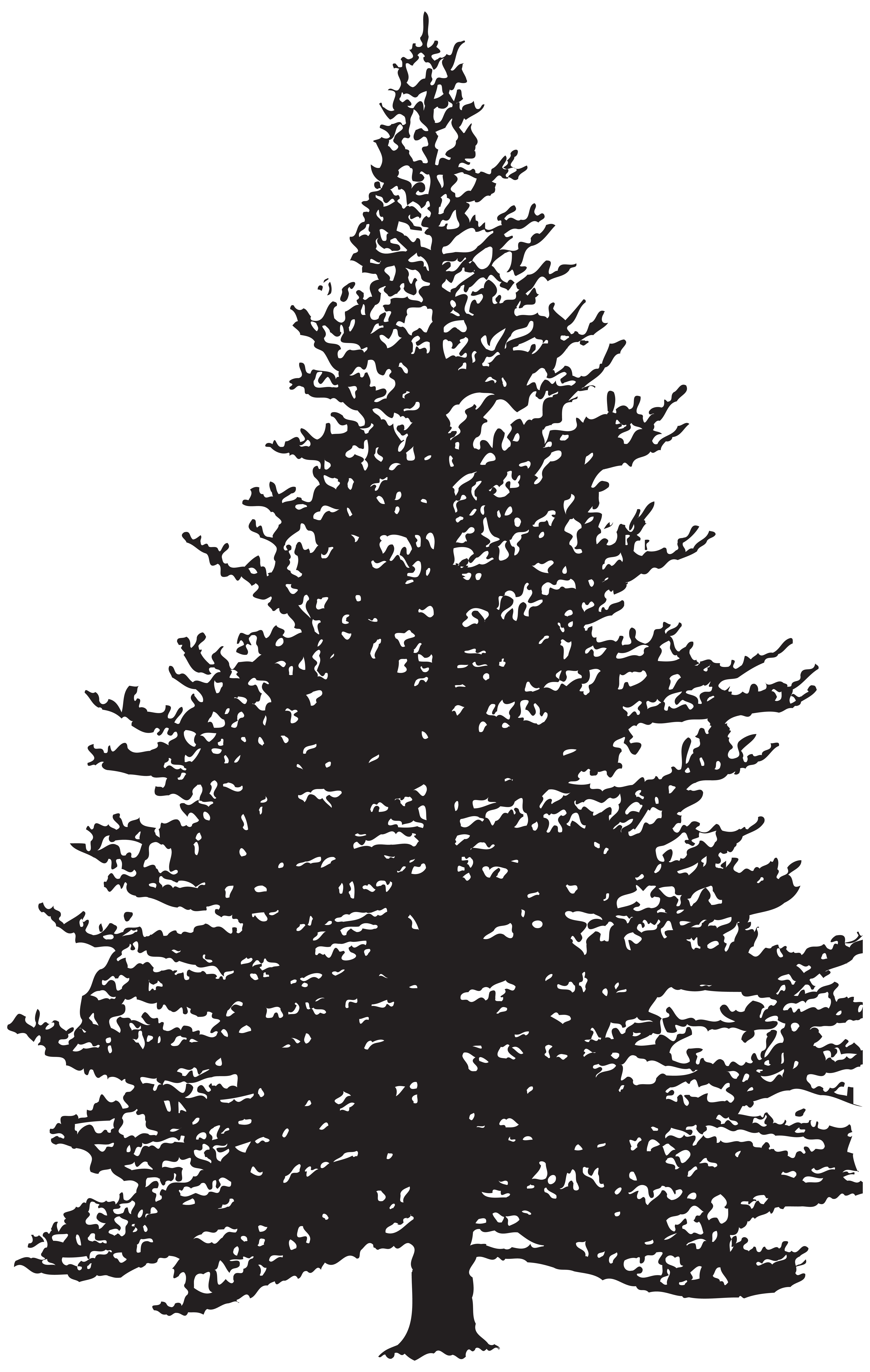 Red pine tree clipart png download Pine Tree Silhouette Clip Art Image | Gallery Yopriceville - High ... png download