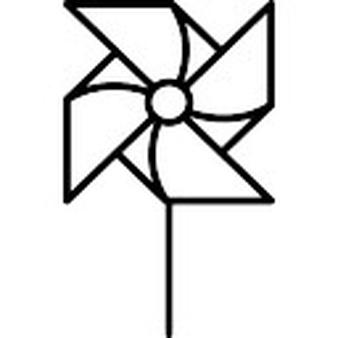 Black and white pinwheel clipart graphic free library Pinwheel Outline Cliparts - Cliparts Zone graphic free library