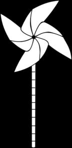 Black and white pinwheel clipart