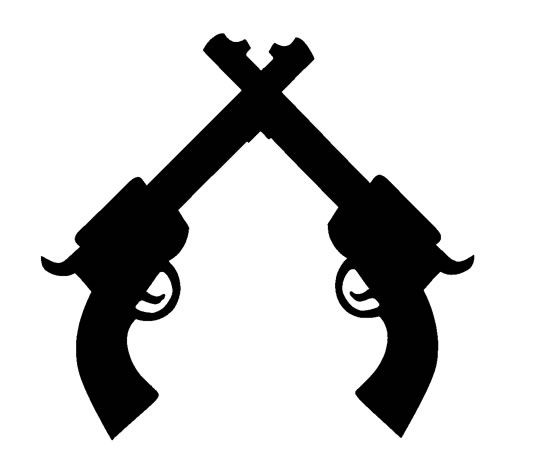 Black and white pistol clipart clip download Pin by Faith Clay on Templates   Stencil art, Stencil templates ... clip download