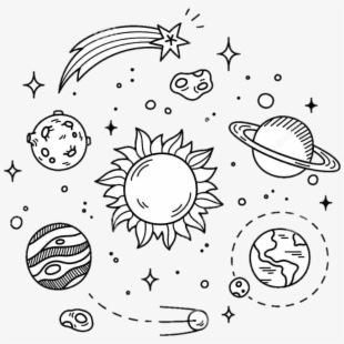 Black and white planet with stars clipart clip art library download Tumblr Clipart Planet - Stars And Planets Drawing #181574 - Free ... clip art library download