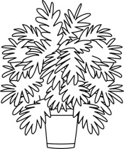 Black and white clipart plant png library download Free Black and White Plants Outline Clipart - Clip Art Pictures ... png library download