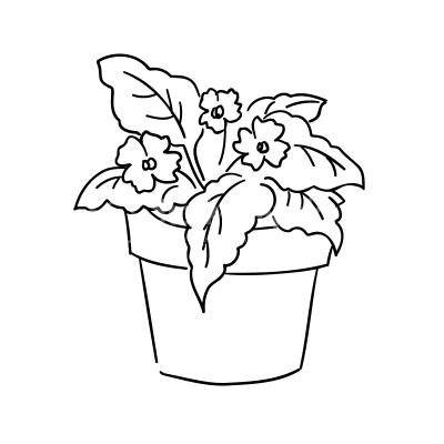 Plant in a pot clipart black and white clip freeuse library Plants clipart black and white 2 » Clipart Station clip freeuse library