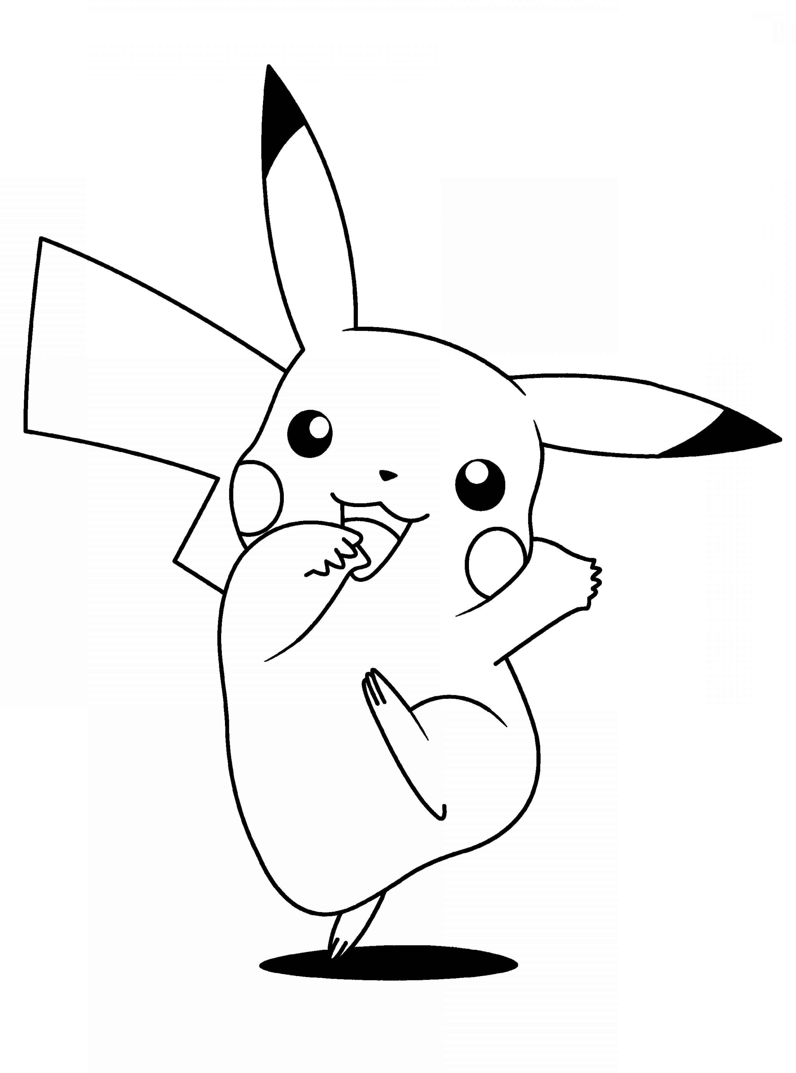 Black and white pokemon clipart picture free Pikachu Vector Black And White   inIIkim picture free