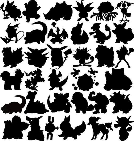 Black and white pokemon clipart banner library download pokemon go clipart - Google Search   svg files   Pokemon stencils ... banner library download