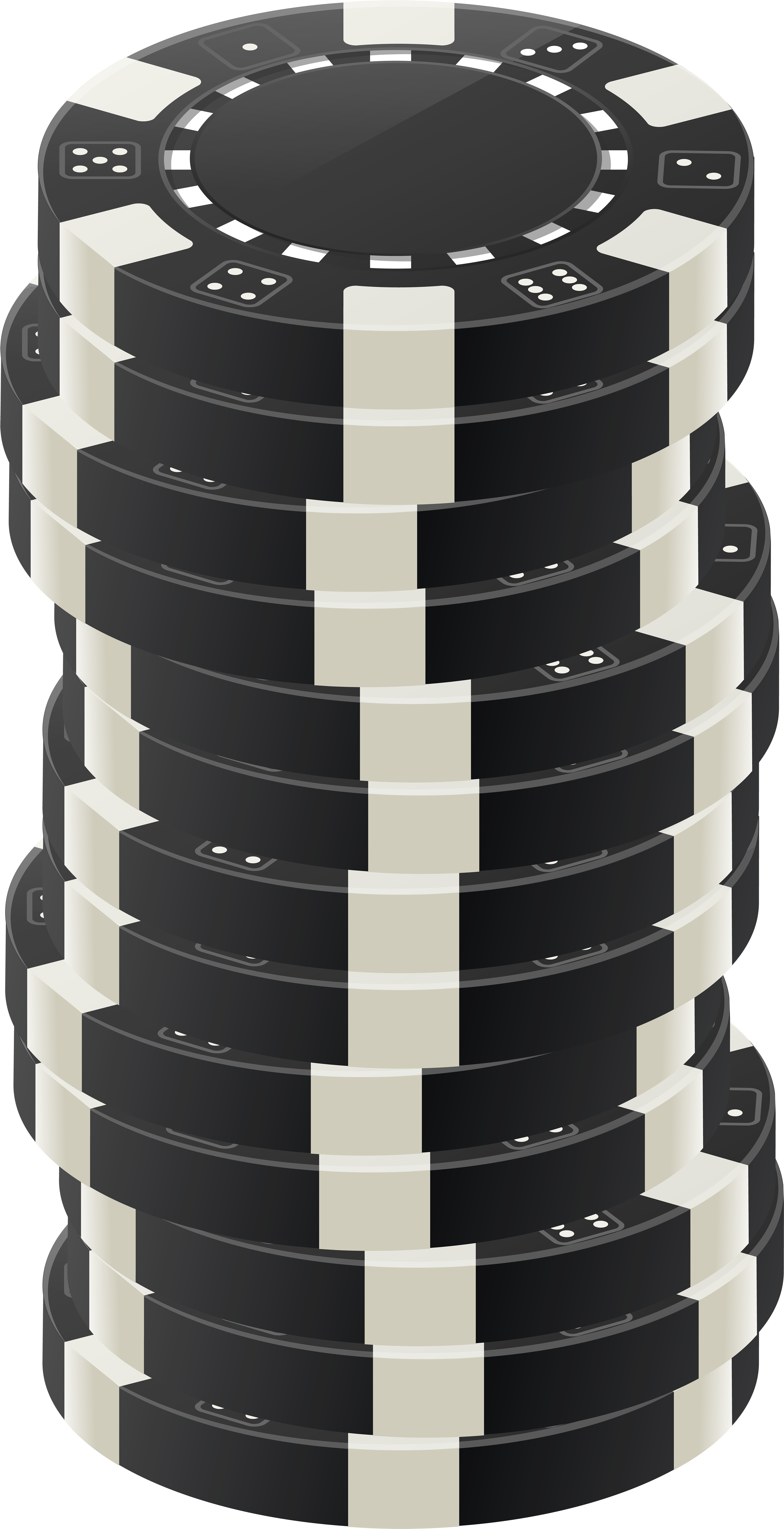 Black and white poker chip stack clipart svg library download HD Black Poker Chips Png Clip Art - Black White Poker Chip ... svg library download
